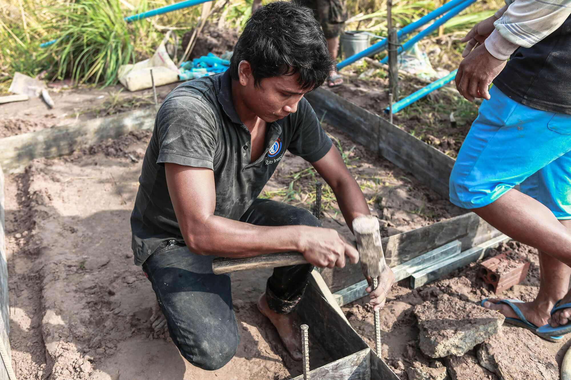 a CCDO partner is building a water-well