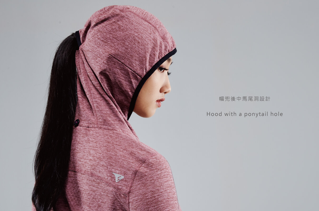 CROSSOVER NECK RUNNING HOODIE WOMEN