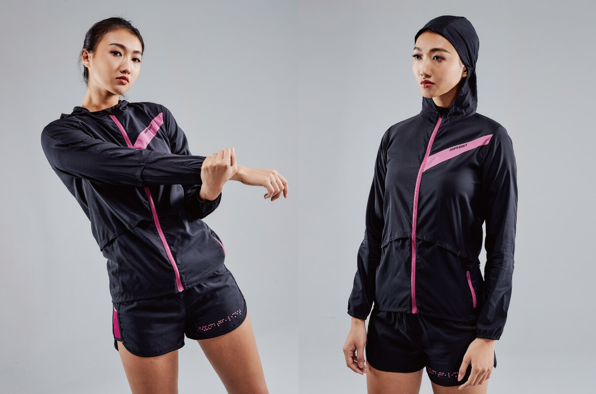 LIGHTWEIGHT BREATHABLE RUNNING JKT   WOMEN